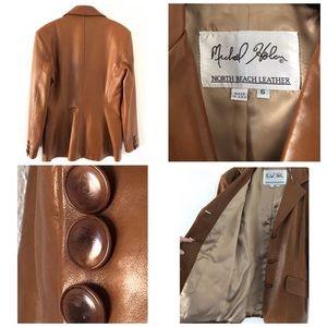 Michael Hoban Jackets & Coats - Michael Hoban North Beach Leather Jacket SZ 6